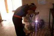 Pembuatan Teralis & Pintu Besi Lab. Administrasi Perkantoran