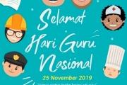 Pidato Mendikbud Memperingati Hari Guru Nasional Tahun 2019