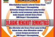 Himbauan Larangan Mengikuti Demo