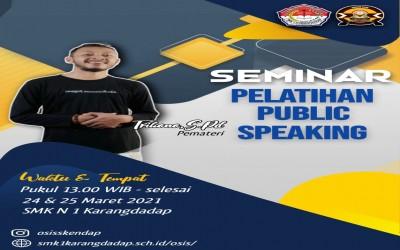 Seminar Pelatihan Public Speaking OSIS SMK N 1 KARANGDADAP